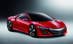 Acura NSX concept in a vibrant red!