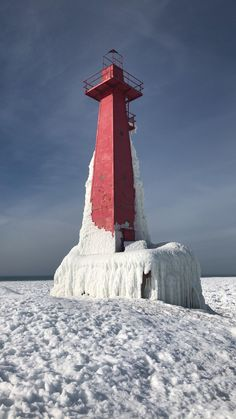 ITAP of this ice covered lighthouse