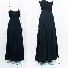 Deadstock Accordion Pleated Black Floor by EnfantTerribleVTG, $44.00