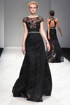 eDressit 2013 S/S Fashion Show Black Cap Sleeves Evening Dress Prom Gown (F00132000) #edressit #fashion #dresses #eveningdresses #promgowns #capsleevesgowns #blackeveninggowns
