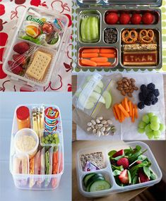tons of healthy travel snack ideas, kinda look like the bento box lunches but i love new ideas! Healthy Travel Snacks, Lunch Snacks, Car Snacks, Snack Box, Snack Recipes, Cooking Recipes, Healthy Recipes, Lunch Saludable, Little Lunch