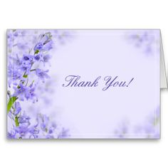 SOLD! Floral Wedding Thank You Cards #Wedding #Purple