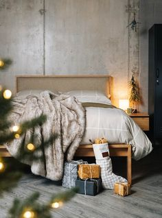 Natural Bed Company offer a range of solid wood beds and bedroom furniture, mattresses, bedding and home accessories. Cosy Christmas, Christmas Bedroom, Christmas Wood, Bedroom Furniture, Bedroom Decor, Bed Company, Wood Beds, House In The Woods, Home Look