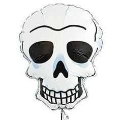 Grinning Skull Balloons  http://www.discountpartysupplies.com/theme-parties/day-of-the-dead-decorations/grinning-skull-balloons.html