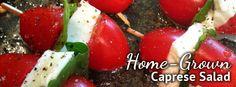 Home-Grown Caprese Salad Receipe Idea from Pike Nurseries / Pike Nurseries