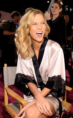 Karlie Kloss from Backstage at the 2014 Victoria's Secret Fashion Show\