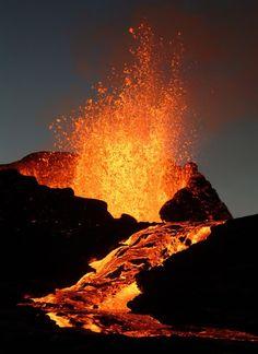 volcán en erupción!