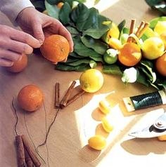 DIY Citrus and Lemon Leaf Garland or wreath - would be gorgeous for a summer door