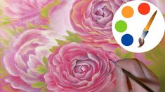 How to paint a rose, Pink roses, paint a flower, irishkalia