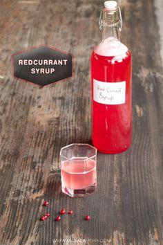 Redcurrant Syrup {Homemade Cordial Recipe} www.masalaherb.com