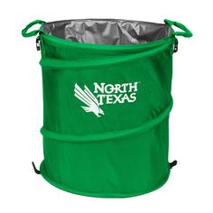 North Texas Mean Green NCAA Collapsible Trash Can
