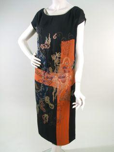 Nice silhouette. Dress ca. 1927-1928 via Manchester City Galleries
