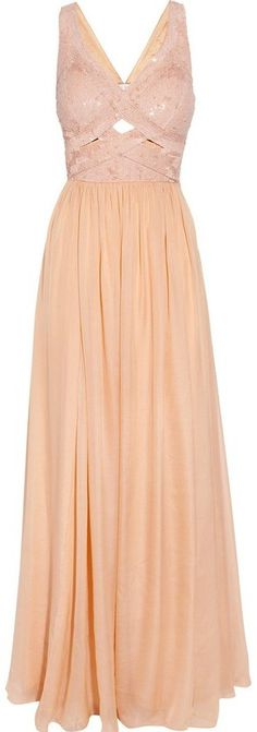 Rachel Gilbert Cinita sequined silk-chiffon gown