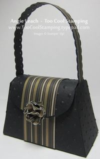 Petite Purse: Black & Gold Striped