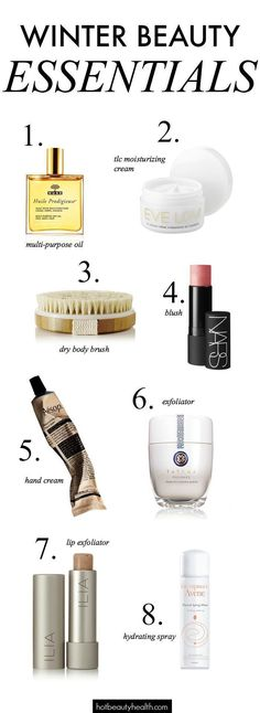 Dry skin? Check! Dry hands, hair, and everything? Check, check and check! Here are 8 winter beauty essentials and tips you'll need to survive this winter. Hot Beauty Health #skincare #haircare #winterbeauty