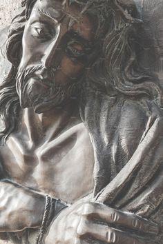 Face of Jesus Christ by KYNA STUDIO on @creativemarket Jesus Christ Statue, Jesus Face, Photo Style, Love Symbols, Vintage Photos, Religion, Urban, Studio, Architecture