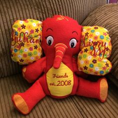 Hand made stuffed elephant by TwinMomApproved on Etsy