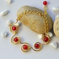 Easy Bracelet Tutorial – How to Make a Wire Wrapped Bracelet with Crackle Glass Bead Decorated