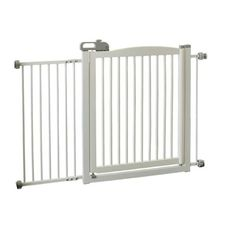 One-Touch Pet Gate 150 White 35 - 61 X 2 X 34.6 - http://www.thepuppy.org/one-touch-pet-gate-150-white-35-61-x-2-x-34-6/