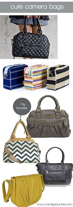 Cardigan Junkie: For the Photogs: Stylish Camera Bags