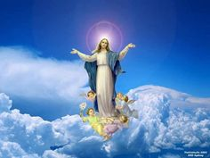 Hail holy Queen enthroned above, O Maria. Hail Queen of mercy and of love, O Maria. Triumph, all ye Cherubim. Sing with us, ye Seraphim, heaven and earth resound the hymn: Salve, Salve, Salve Regina.   https://www.facebook.com/photo.php?fbid=10151668182388868=a.495257293867.284987.38122663867=1
