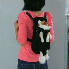 Front Style Pet Dog Carrier Backpack w/ Legs Out Design Size L - Black