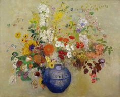 Odilon Redon, The flowers on ArtStack #odilon-redon #art
