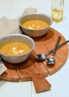 Zoete aardappelsoep à la Nadia en Merijn - Uit Paulines Keuken