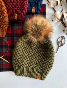 Fall Knitting, Loom Knitting, Knitting Patterns, Crochet Patterns, Crochet Beanie Pattern, Diy Crochet, Knitting Projects, Knitted Hats, Etsy