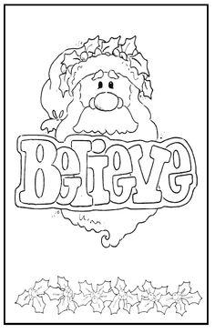 Santa Christmas Card. Free download. 1 - 2 - 3 Learn Curriculum
