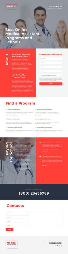 Template 58055 - Medical Clinic  Responsive Landing Page Template