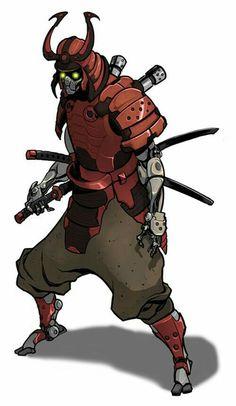 Cyberpunk Samurai Saturday Night