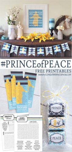 #PRINCEofPEACE Printables - Subway Art, Banner, Nuggets, Bookmarks and FHE or Youth Activity Ideas, great for YW, RS and Visiting Teaching - Easter, Names of the Savior #mycomputerismycanvas