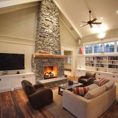 Spaces Stone Fireplace Design, Pictures, Remodel, Decor and Ideas - page 3