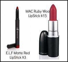 #BeautyForLess - MAC Ruby Woo Lipstick  http://www.fashionwithoutguilt.com/beauty-for-less-mac-ruby-woo-lipstick.html