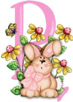 ALPHABET LAPIN (1) 07-03-2017 Alphabet, Gif Rose, Character, Astrological Sign, Easter Activities, Alpha Bet, Lettering