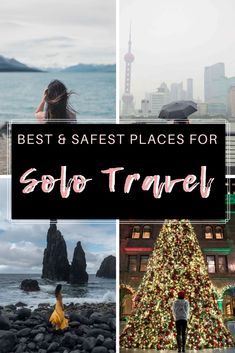 Wondering where to go by yourself Here are some of the safest places to travel alone as a female solo traveler. When I first started traveling back in 2012 I couldnt always find friends to travel with me since I had way more vacation time Solo Travel Tips, Travel Advice, Travel Quotes, Amazing Destinations, Travel Destinations, Safest Places To Travel, Voyager Seul, Travel Alone, Travel Around The World
