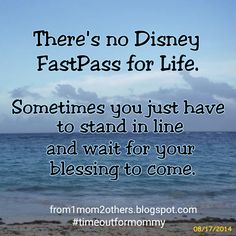 There's no Disney FastPass for life.  http://from1mom2others.blogspot.com