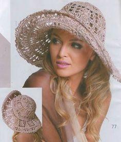 Летние шляпы с широкими полями, связанные крючком, схемы прилагаются — Рукоделие Шляпа 9