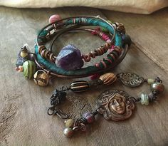 Custom Order for Renata Bohemian gypsy bangle set with by quisnam, $50.00