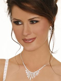 Sexy Rhinestone Fringe Necklace Set With Earrings $3.6 wholesale - www.tidequeen.com