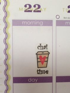 20 UN-CUT Chai stickers for Erin Condren Life Planner Filofax Gillio