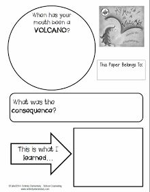 Entirely Elementary...School Counseling: SWPBIS Character Lesson #1 - My Mouth is a Volcano