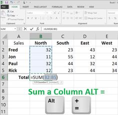 Total an Excel Column Faster with This Keyboard Shortcut When you are working with Excel, who has time to use the mouse to select a column and create a formula to total? You don't have to. A quick and easy shortcut will let you do it mouse-free. Read the full Cool Tip: http://www.onecooltip.com/2015/08/total-excel-column-faster-with-this.html #Microsoft #Excel #SUM #formula #ALT #= #keyboard #shortcut www.onecooltip.com