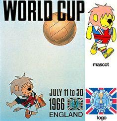 Cartel oficial de la Copa del Mundo Inglaterra 1966 realizado por artista Carvosso / Official poster of the FIFA World Cup England 1966 made by artist Carvosso