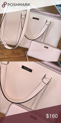 9e4a61cce8 Kate Spade Purse and Wallet Cute blush pink purse with matching wallet! No  stains in great condition!