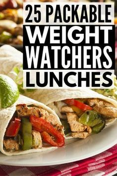 25 Packable Weight Watchers Lunch Recipes with Points! is part of Weight watchers lunches - This collection of Weight Watchers lunch recipes with points is your ticket to ensuring you maintain your healthy eating habits on even the busiest days! Weight Watchers Lunches, Plats Weight Watchers, Weight Watchers Smart Points, Weight Watchers Diet, Weight Watcher Dinners, Weight Loss Meals, Weight Watchers Recipes With Points Vegetarian, Weight Watchers Recipes With Smartpoints, Weight Watcher Recipes