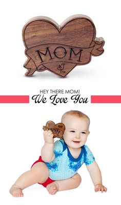 This wooden Mom rattle is super-cute!