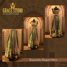 Fashionably fascinating traditional attire crafted with utmost perfection.