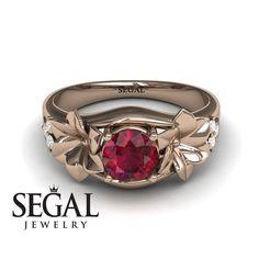 Yellow Gold Engagement Ring by Segal Jewelry Elegant Engagement Rings, Antique Engagement Rings, Rose Gold Engagement Ring, Halo Engagement, White Topaz Rings, Blue Sapphire Rings, Ruby Rings, Diamond Rings, Art Deco